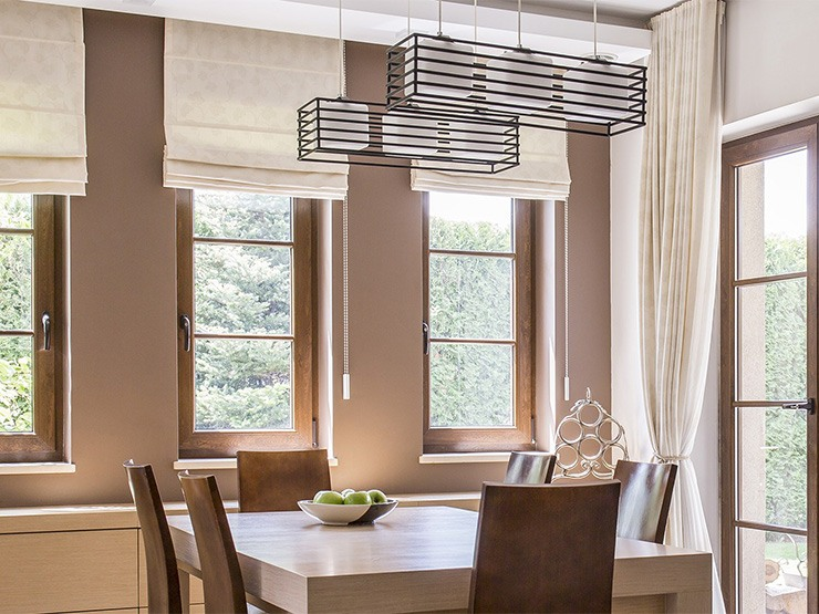 Custom Roman Shades for Kitchens in Greenwich, Connecticut (CT)
